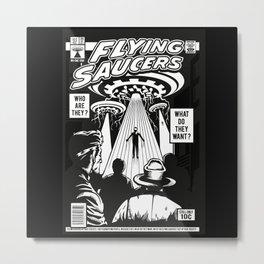Comic Style T-shirt Metal Print