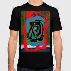 Hearts and Minds Are Not Straight Lines Never Let The Mind Go Asinine  Mens Fitted Tee Black MEDIUM