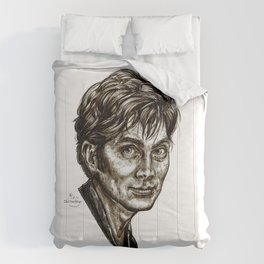 David Tennant - Doctor Who - Allons-y (Drawing) Comforters