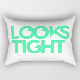 Looks Tight Stacked Logo Rectangular Pillow