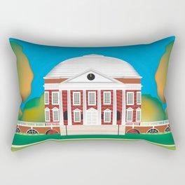 Charlottesville, Virginia - Skyline Illustration by Loose Petals Rectangular Pillow