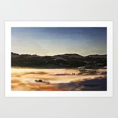 Iter ad caelum Art Print
