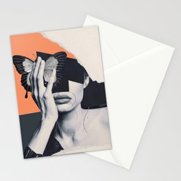 collage art / butterfly Stationery Cards