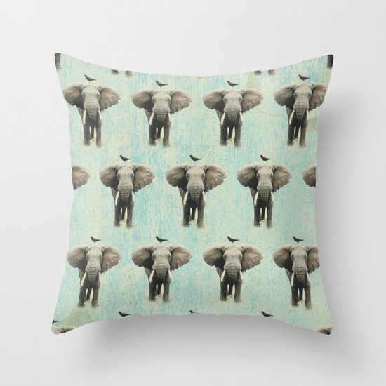 friends for life wall paper Throw Pillow