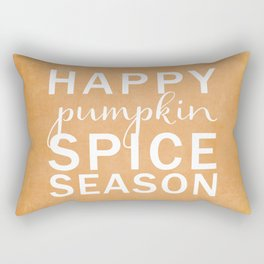 happy pumpkin spice season orange Rectangular Pillow