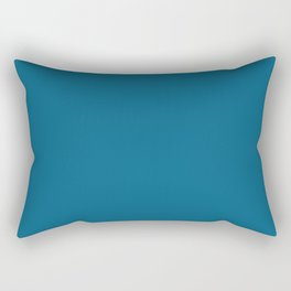 Dunn & Edwards 2019 Curated Colors Blue Velvet (Deep Blue) DET559 Solid Color Rectangular Pillow