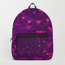 Abstract Pink Ultra Violet Love Heart Pattern | St Valentines day Backpack