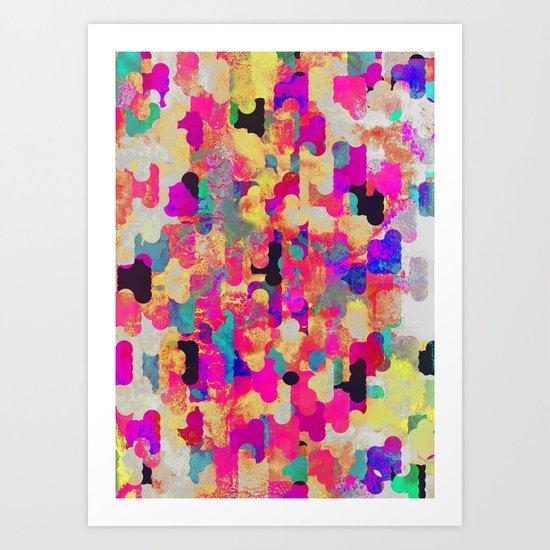 Neon Tambourine Art Print