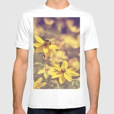 Summer  Bee White Mens Fitted Tee MEDIUM