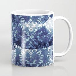 Indigo Batik Abstract Coffee Mug