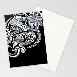 Hawaiian Platinum Floral Tribal Threads Stationery Cards