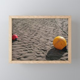 BEACH BUOYS Framed Mini Art Print