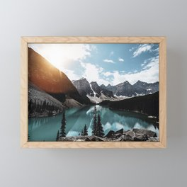 Lake Moraine Framed Mini Art Print
