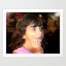 Girl in Wonder Art Print