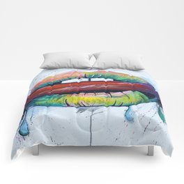 Painted Lips Comforters
