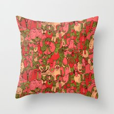 Faces Pattern Throw Pillow