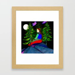 Waiting In The Moonlight Framed Art Print