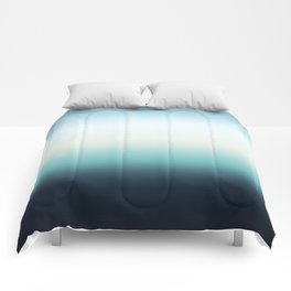 ocean sky color gradient  - blue , white , black Comforters