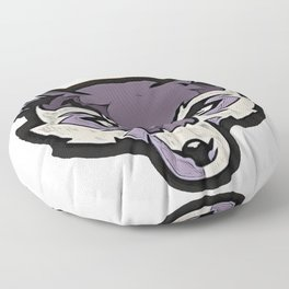 Wolf Gray Menace Stop Escape Match Havoc Invernal Floor Pillow
