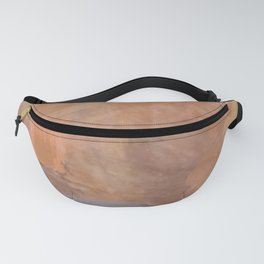brush painting texture abstract background in brown and black Fanny Pack