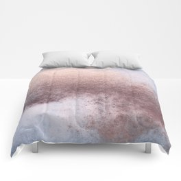 Princess Retro Rose Gold Blush Comforters