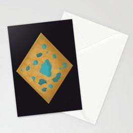Aqua pools on wood charm Stationery Cards