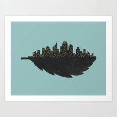Leaf City Art Print