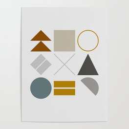 Mid West Geometric 02 Poster