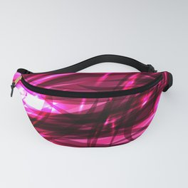 Purple smooth sparkling lines on the theme of space and abstraction. Fanny Pack