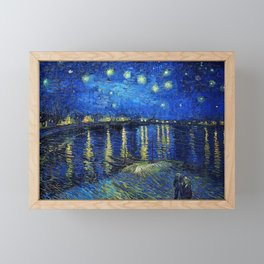 Starry Night Over the Rhone by Vincent van Gogh Framed Mini Art Print