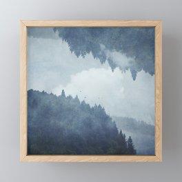 Passing Days - Misty Forest Reflection Framed Mini Art Print