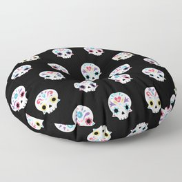 Cute sugar skulls B Floor Pillow