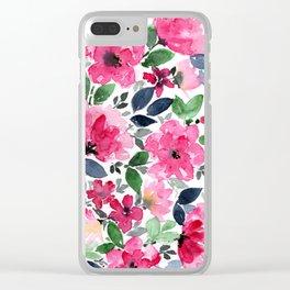 Fuschia Garden Clear iPhone Case