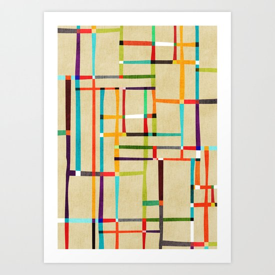 The map (after Mondrian) Art Print