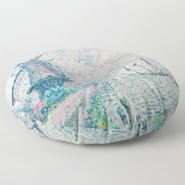 Paul Signac - Canal of Overschie Floor Pillow
