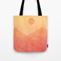 Sunset Mountain - 2 Tote Bag