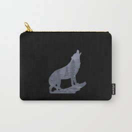 Wolf Silhouette Modern Country Art Modern Farmhouse Art Matted Picture USA A066b Carry-All Pouch