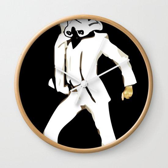 saturday night trooper _ star wars Wall Clock