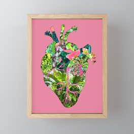 Botanical Heart Pink Framed Mini Art Print