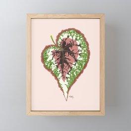 Begonia Rex Framed Mini Art Print