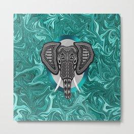 Aztec Elephant Tusk's of Grandeur Metal Print