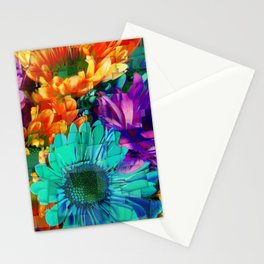 Colored Daisies Stationery Cards