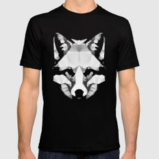 Geo - Fox  Mens Fitted Tee Black LARGE