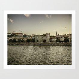 Budapest River Art Print