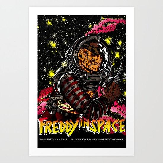Freddy In Space Art Print