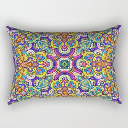 Arabesque kaleidoscopic Mosaic G520 Rectangular Pillow