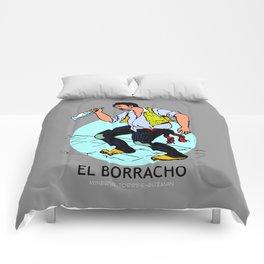 El Borracho Mexican Loteria Card Comforters