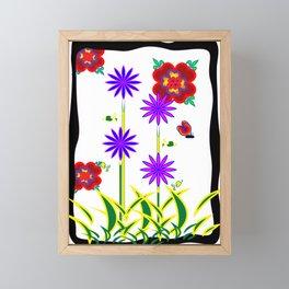 ButterFlower Framed Mini Art Print