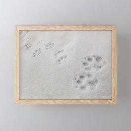 Yellow Stone - Wolf Tracks Framed Mini Art Print