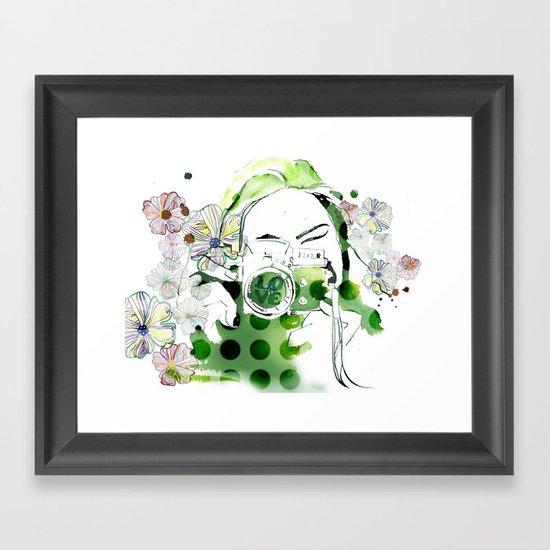 Camera Shy Framed Art Print